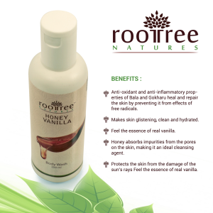 Roottree Natures Honey Vanilla Body Wash