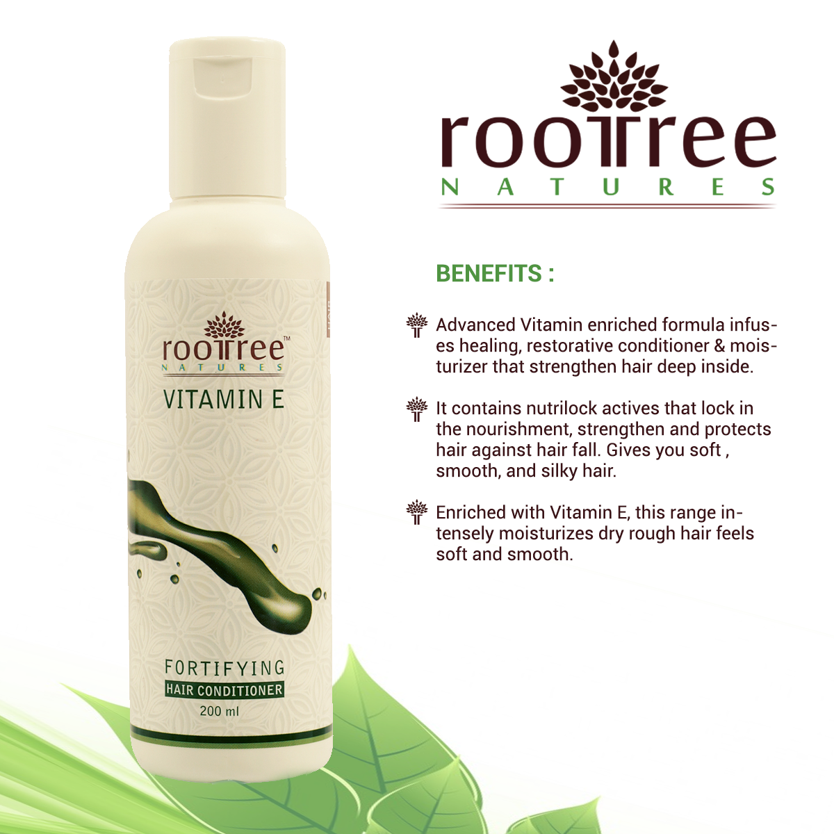 Roottree Natures Vitamin E Fortifying Hair Conditioner
